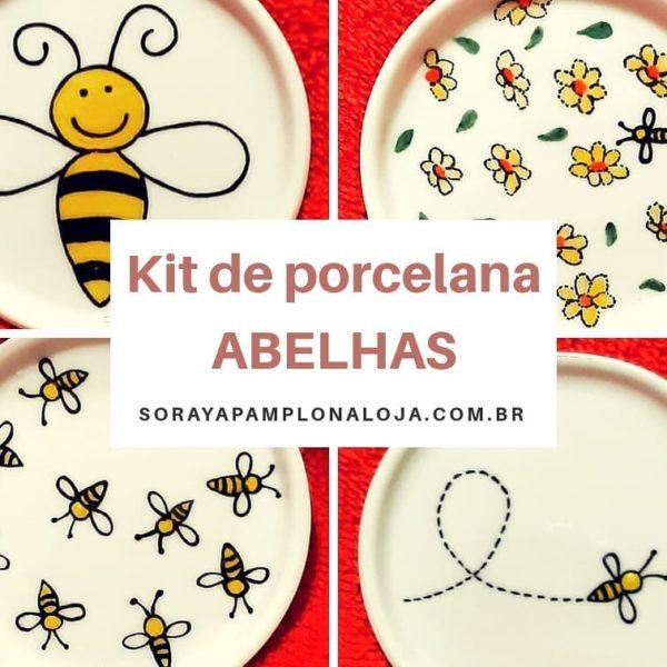soraya pamplona porcelana pintada kit abelhas