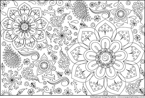 soraya pamplona – paginas para colorir mandala 01