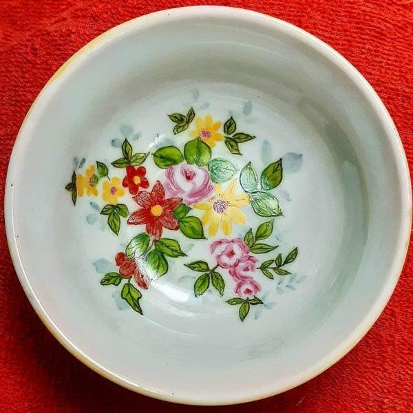 soraya pamplona porcelanas pintadas bowl flores vintage