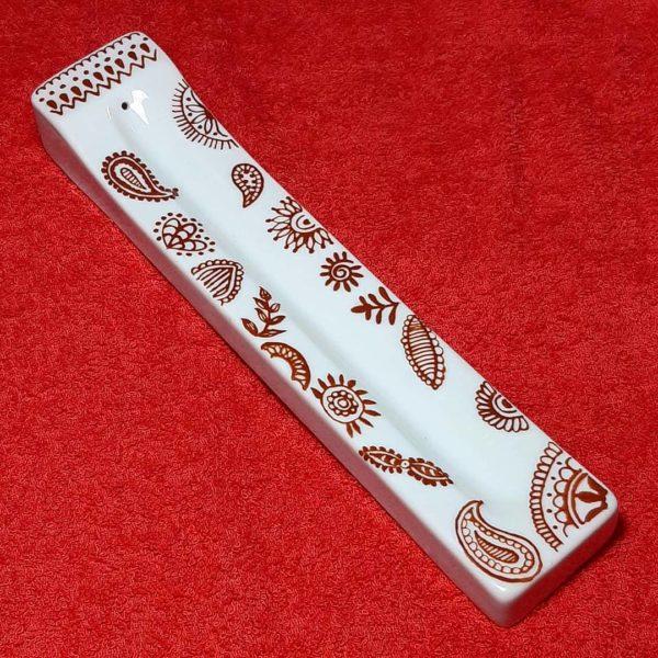 soraya pamplona porcelanas pintadas incensario incenso zen gratidao good vibes