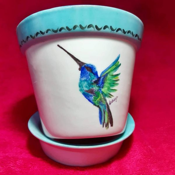 soraya pamplona vaso passarinho beija flor