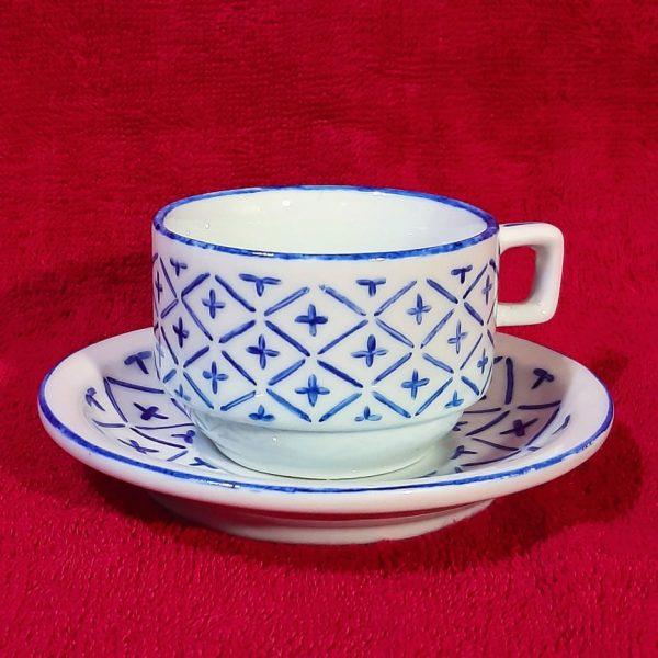 soraya pamplona porcelanas pintadas xicara de cafe xicara de cha azul juju